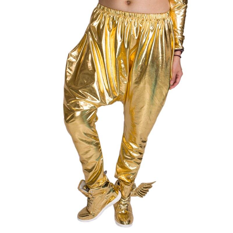 Heroprose Costumes Harem-Pants Crotch-Trousers Hip-Hop Gold Brand Big Stage-Performance
