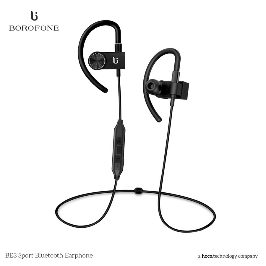 BOROFONE BE3 Wireless Bluetooth Hifi Earphone Headphone Noise Cancelling Earbuds Headsets Earphone for Cell Phone for Iphone qcy q25 bluetooth 4 1 earphone wireless noise cancelling headphone