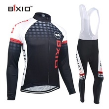 Bxio Winter Thermal Fleece Cycling Jerseys Long Sets Super Warm Bike Clothing Black Bicycle Jersey Ropa Ciclismo Invierno 012