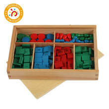 Montessori Kids Toy High-Quality Wood Chips Stamp Game Preschool Training