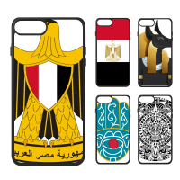Egypte Mummy Piramide Cleopatra Totems Farao Vlag Nationale Kever Embleem Telefoon Case voor iPhone X 7/8 Plus Gevallen Phonecase Cover