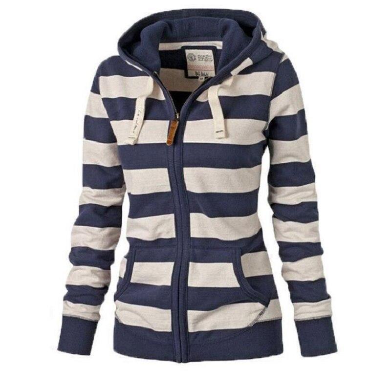 Nové dámské podzimní pruhované mikiny mikina mikina s kapucí svetr s kapucí jaro zimní mikina plus velikost 4XL
