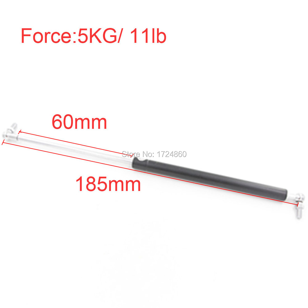 5KG 11lb Force 60mm Long Stroke Hood Lift Support Auto Gas Spring in Springs M8 Hole Diameter free shipping500mm central distance 200mm stroke 80 to 1000n force pneumatic auto gas spring lift prop gas spring damper