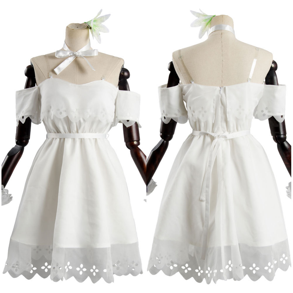 Fate Grand Order Mash Kyrielight White Dress Cosplay Costume Outfit full set Costume Halloween Carnival Cosplay women Full Sets