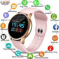 LIGE Fitness Tracker IP67 Waterproof Smart Bracelet Screen heart rate Monitor Pedometer Smart Wristband Sport smart watch Women