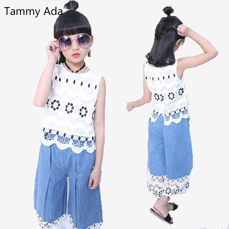 Tammy Ada Girls Sets Fashion Sleeveless Summer Sets Korea -8655