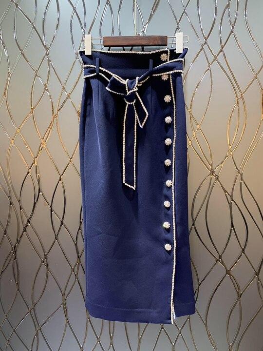Gamme Taille Femmes Unique Jupe 2019 Joker Haut 226 De Boucle Nouveau Avec Vêtements Mode Forage Rangée HtaCqSw