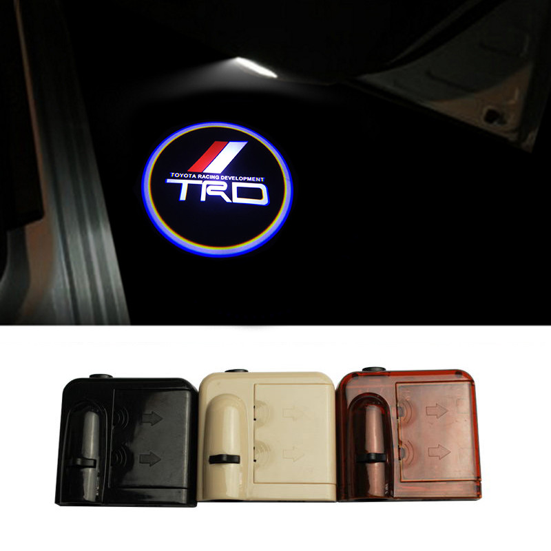 2X Car-styling Wireless Led Car Door Projector Lights for Toyota TRD Car Door LED Logo Ghost Shadow Lights