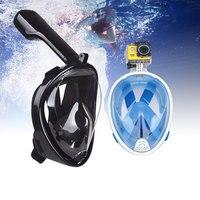 Sports Camera Anti Fog Full Face Diving Mask Scuba Snorkeling Respiratory Mask Safe and Waterproof For Gopro 7 6 5 SJCAM Xiao Yi