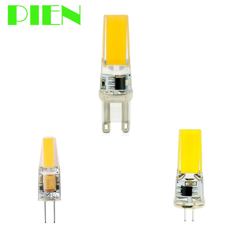 <font><b>12V</b></font> <font><b>LED</b></font> <font><b>G4</b></font> G9 Lamp COB Dimmable 220V 110V 24V bombillas <font><b>leds</b></font> 6W <font><b>9W</b></font> Equal Halogen 90W bulb for Chandelier Free ship 2pcs image