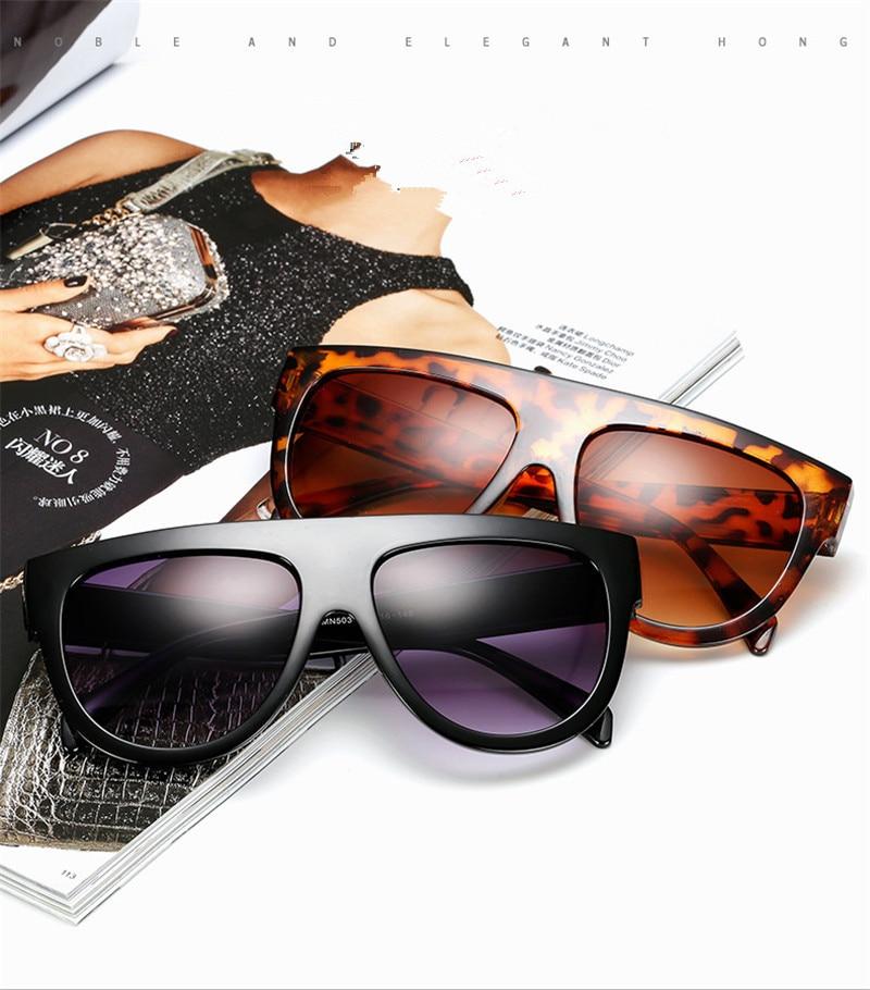 Big Frame Cat Eye Leopard Sunglasses Vintage Women Designer Plastic Lady Sun Glasses Classic Vintage Oculos De Sol feminino