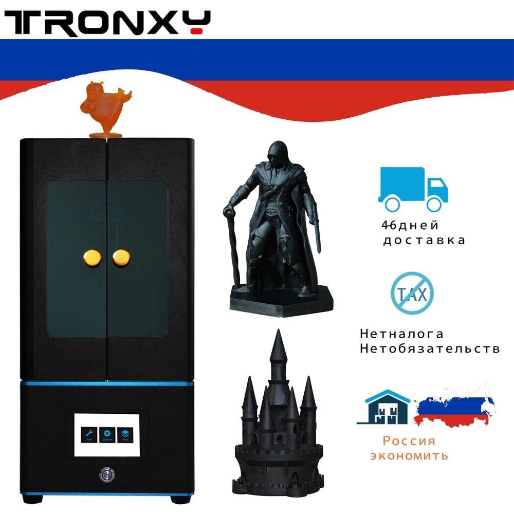 Tronxy Neue LCD 3d drucker UV harz Licht-Heilung DLP/LCD mit 3,5 zoll touch screen und Lichtempfindliche harz (405nm) photon