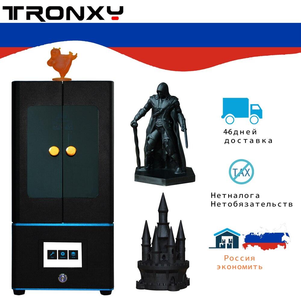 Tronxy nouvelle imprimante LCD 3d résine UV photopolymérisable DLP/LCD avec écran tactile 3.5 pouces et résine photosensible (405nm)