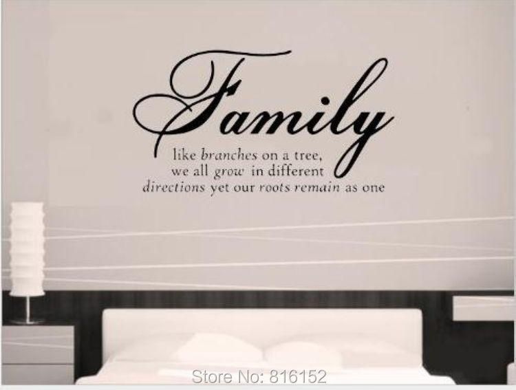 wall quotes decal wall sticker family like branches on a tree vinyl lettering wall sayings home