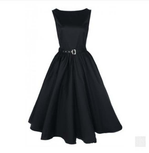Vintage 50s Dresses Rockabilly Clothing 60s Mini Dress 4 Colors 50s Style  Plus Size Vintage Retro Party Dress