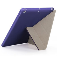 protective pu leather Multi-folded Tablets Case For iPad 9.7 2017 2018 TPU Soft Case PU Leather Tablet Case Protective Cover For iPad 9.7