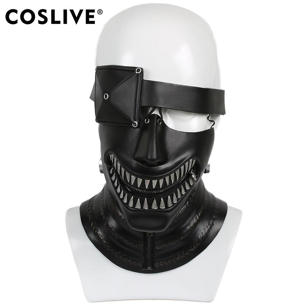 Coslive Ken Kaneki Mask Tokyo Ghoul Cosplay Helmet Live-Version Feature Flim For Halloween Party Show