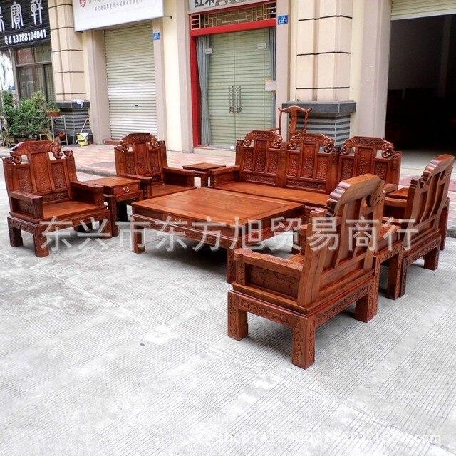 Vietnam Myanmar Clical Mahogany Qingming Large Fruit Pear Sandalwood Luck Real Wood Furniture Chairs Sofa