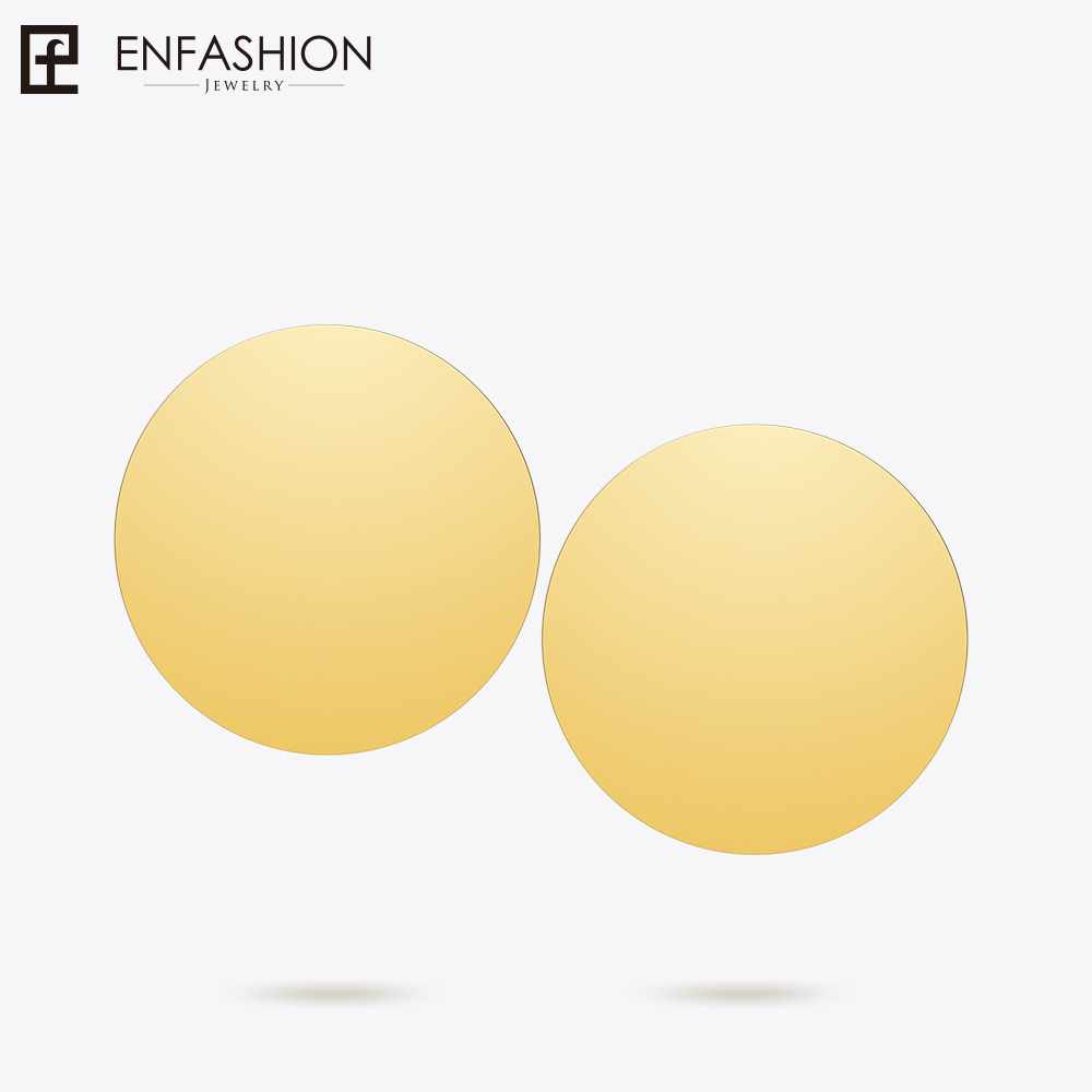 Enfashion Dream Circle Earring Gold Color Stud Earrings For Women Earings Fashion Jewelry Oorbellen Boucle d' Oreille EB171042 серьги кольца fashion in 40 d oreille brincos argola pequeno 40er 1