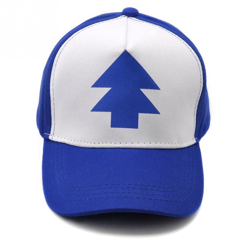 Fashion Gravity Falls Cap BLUE PINE TREE Trucker Hat Cartoon Trucker Caps New Curved Bill Dipper Men Women Baseball Cap bracelet