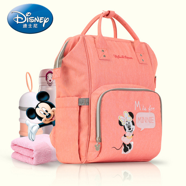 7c3b080e73e Disney Mummy Maternity Nappy Bag Travel Backpack Large Capacity Baby Bag  Stroller Diaper Bag for Baby Care Insulation Bags