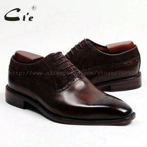 Image 5 - משלוח חינם דבק קרפט cie עור עגל עליון פנימי של הגברים outsole בנות אוקספורד צבע חום עם נעל עור זמש OX207