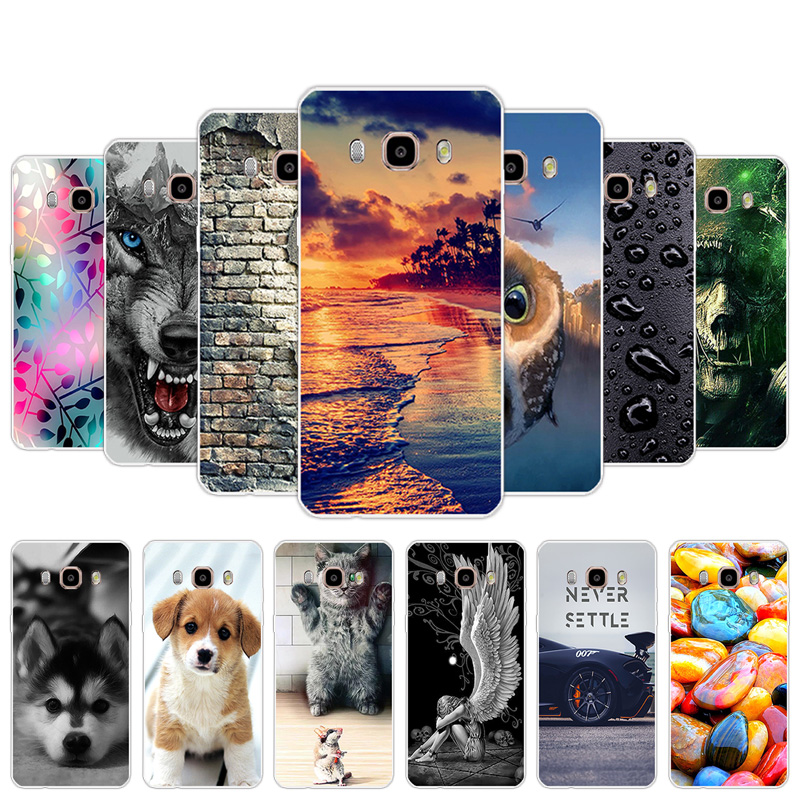 Cases for Samsung Galaxy J510 Silicone Back Cover Painted for Galaxy <font><b>J5</b></font> 2016 j <font><b>510</b></font> 5.2