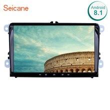"""Seicane 9 """"Android 8,1 GPS автомобильный радиоприёмник для сиденье Toledo Leon Volkswagen Golf, Volkswagen Polo Passat Tiguan Sharan Caddy 2Din головное устройство стерео проигрыватель"""
