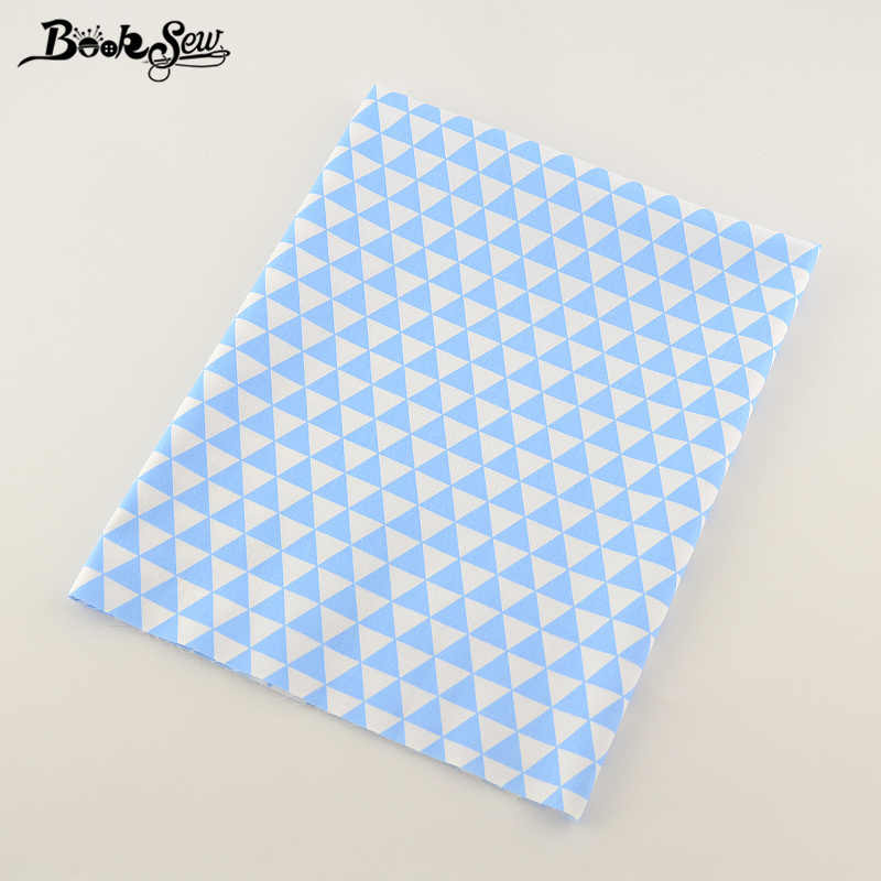 Booksew Soft Cotton Twill Fabric Sky Blue Triangle Sewing TIssue Material Bed Sheet Patchwork Dolls DIY Crafts Home Textile