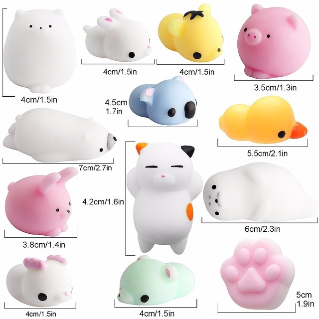 Mini Squishy Cute Cat Antistress Ball