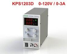 KPS1203D Regulowany Wysoka precyzja podwójny wyświetlacz LED przełącznik DC funkcja ochrony 120V3A Zasilania 110 V/220 V 0.1 V/0.01A UE