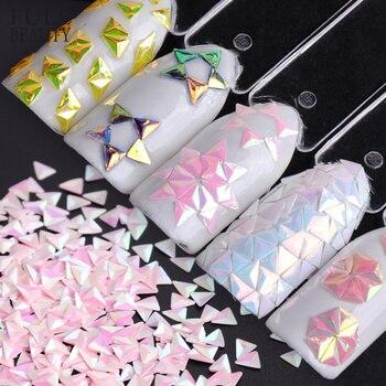 Pleine beauté 1g Holo 3D Super brillant Triangle Paillette Art des ongles décorations AB caméléon ongles paillettes paillettes CH01-12