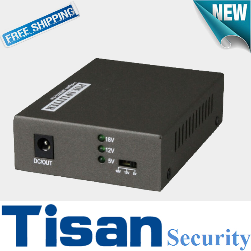 цена на New Gigabit PoE Splitter Adapter with 10/100/1000 Mbps Network Data Rate IEEE 802.3at/af