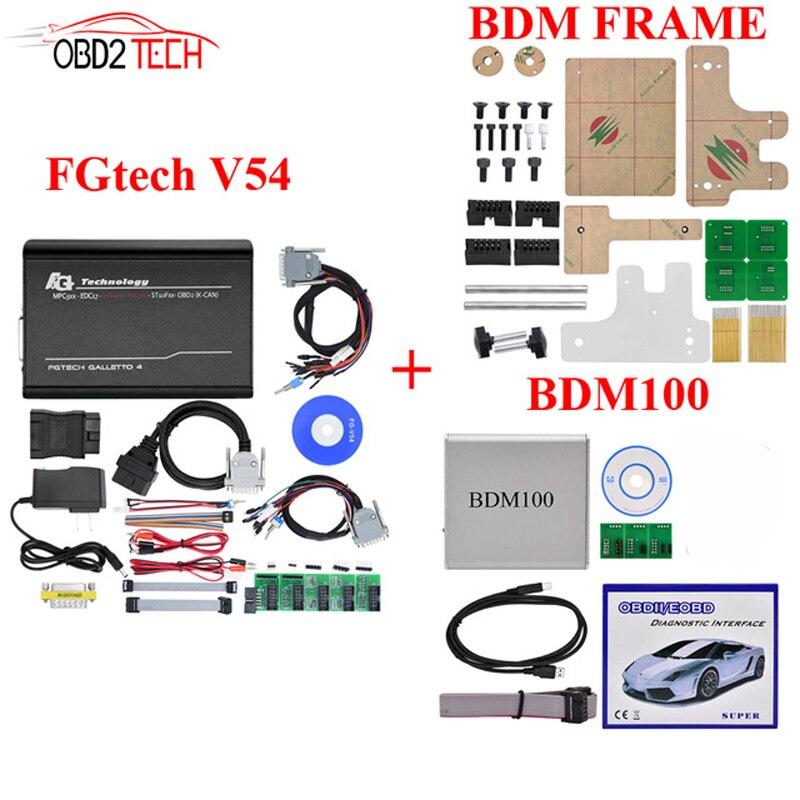Bdm Cadre + BDM100 + Fgtech Galletto 4 Maître v54 FG Tech BDM Bdm-tricore-obd Soutien BDM fonction ECU Outil de Programmation