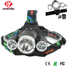 PANYUE 10PCS Most Powerful T6+2XPE USB Rechargeable LED Head Lamps 1800 Lumens Waterproof Long Range Headlamp Bike front light