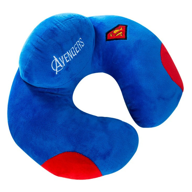 U-Shaped Pillow Avengers Pattern Office Nap Car Airplane Headrest Nursing Travel Neck Cushion Pillowes image