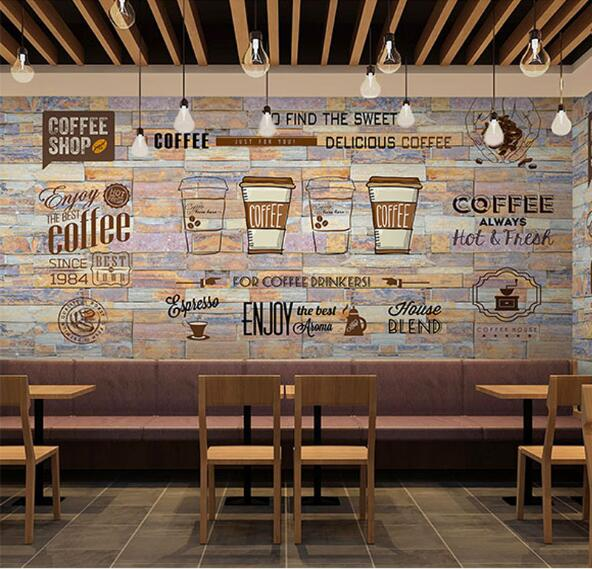 3d mural photo wallpaper art wall decor personalize large murals restaurant coffee shop store - Restaurant wall decor ideas ...