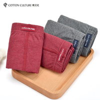 Cotton Culture 3 Sets / Men's Underwear Cotton Square Angle Boxer Low Waist Comfortable Breathable Thin Section 5321203