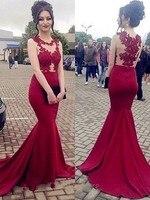 Vestidos de fiesta largos elegantes Гала видеть сквозь лиф Русалка вечернее платье суд Поезд Abiye леди торжественное платье