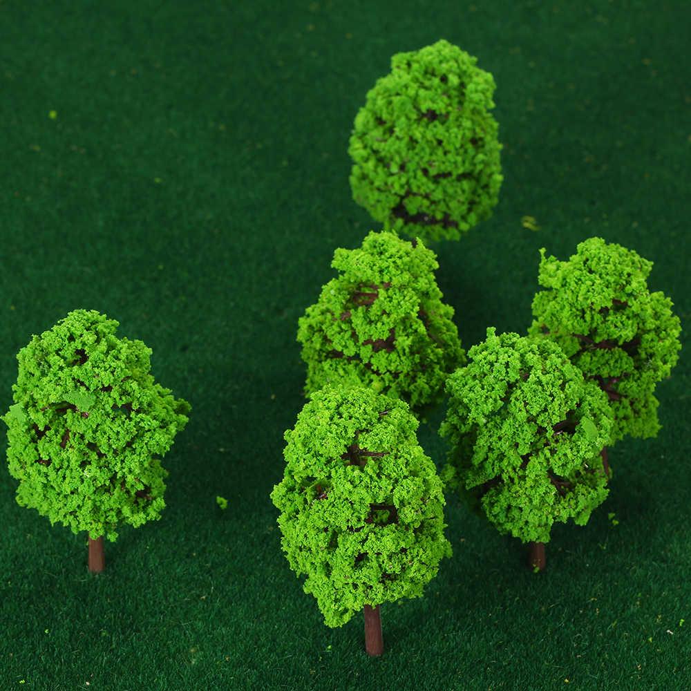 20 шт модели деревьев поезд декоративный пейзаж весы 7/9 см Пластик архитектурной модели поставки здания Наборы, игрушки для детей