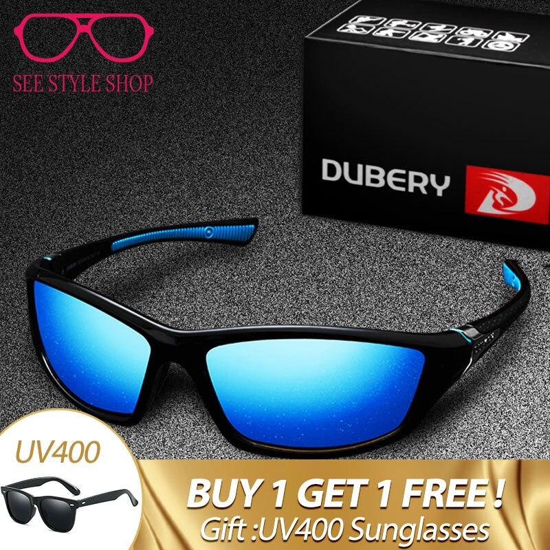 DUBERY Square Sunglasses Men Polarized uv400 High Quality Polaroid Lens Driving Travel Sun Glasses HD Goggles Male Gafas XH9