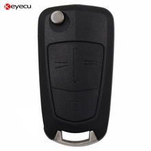 New Uncut 3 Button 433Mhz Remote Control Key Fob With ID46 for Vauxhall Opel Zafira B