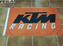 KTM racing team bandera, envío libre, bandera del club de Corredores, pabellón rey, 90*150 CM bandera de poliéster, CMR Racing bandera del equipo