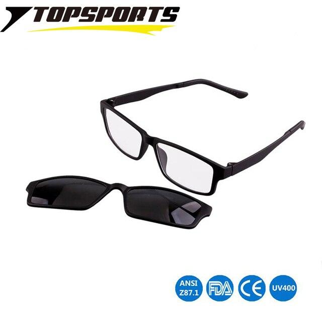 286f751bfb TOPSPORTS Myopia Optical Glasses Sports Polarized Sunglasses prescription  for Men Women Magnet Adsorption lens clip on Eyewear