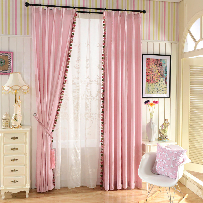 European luxury double sided chenillev Blackout curtains for Bedroom ...