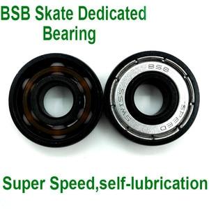 Image 4 - 16pc Abec11 Original BSB Swiss Speed Bearing 608 White Ceramic Balls Inline Skate Roller Skates Skateboard BSB Bearings Ceramica