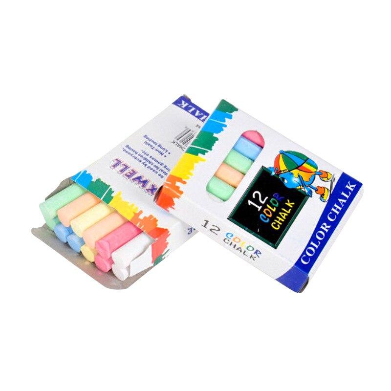 12 Pcs/Lot Dustless Teacher Colour Chalk Pen Drawing Chalks For Blackboard Stationary Office School Supplies