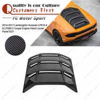 Accesorios para coche carcasa trasera de fibra de carbono seca para motor 2014-2017 Huracan LP610-4 y LP580-2 Coupe rejilla de Panel
