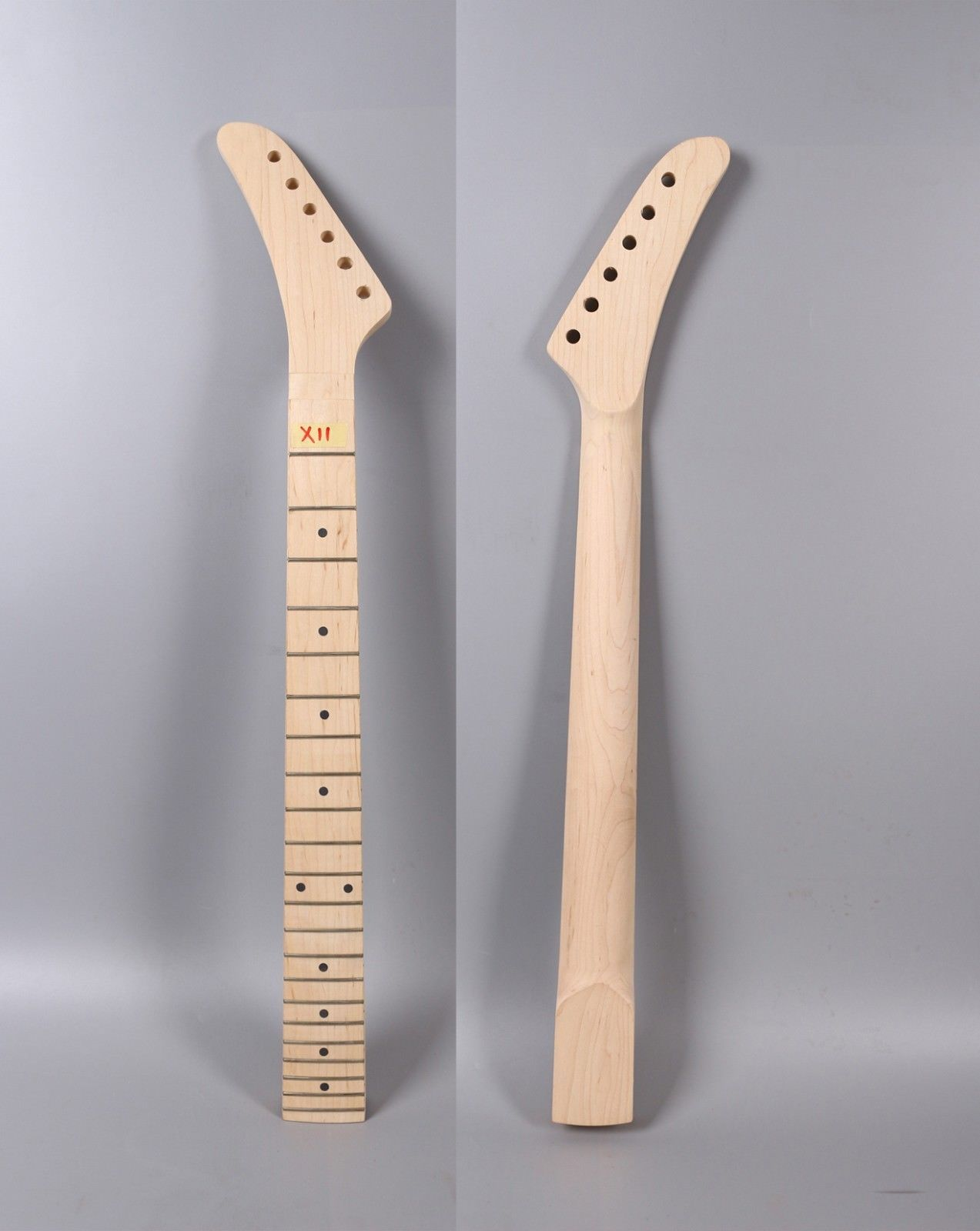Maple Guitar Neck 22 Fret 25.5 Inch Locking Nut banana Style Unfinished Electric Guitar Replacement Left Hand цена