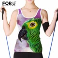FORUDESIGNS 2017 Summer Fashion Women Crop Top Blouse Female Tank Tops Funny Birds Animal Printed Woman Casual Basis Shirt Vest
